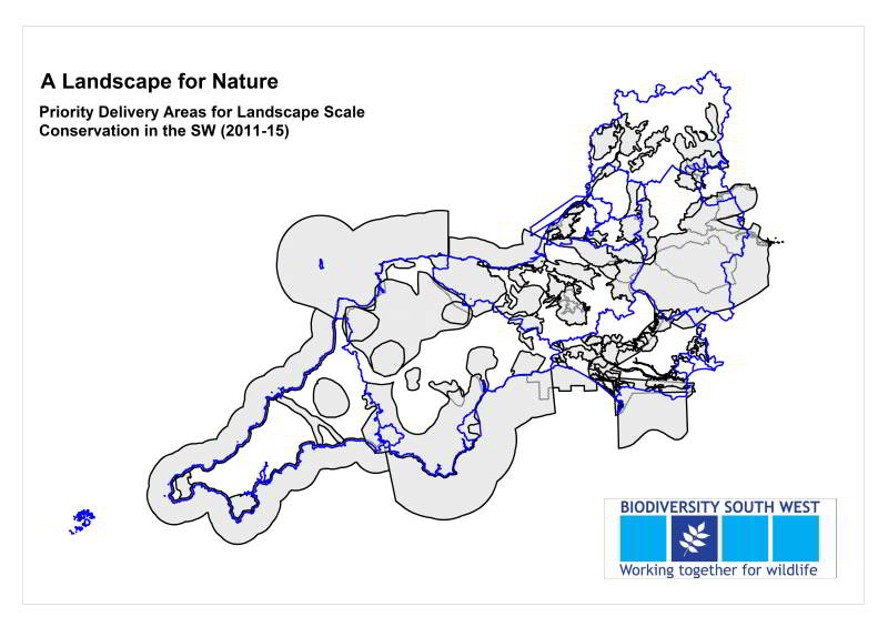 priority delivery areas for landscape scale conservation in the southwest